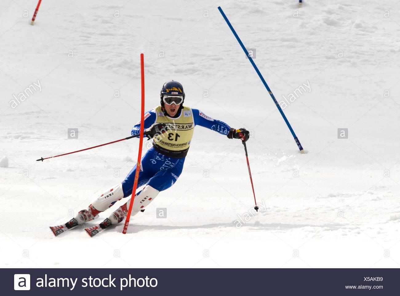 Marc Berthod, Switzerland, FIS Ski Worldcup, Slalom men, Kandahar race, Garmisch-Partenkirchen, Bavaria, Germany - Stock Image