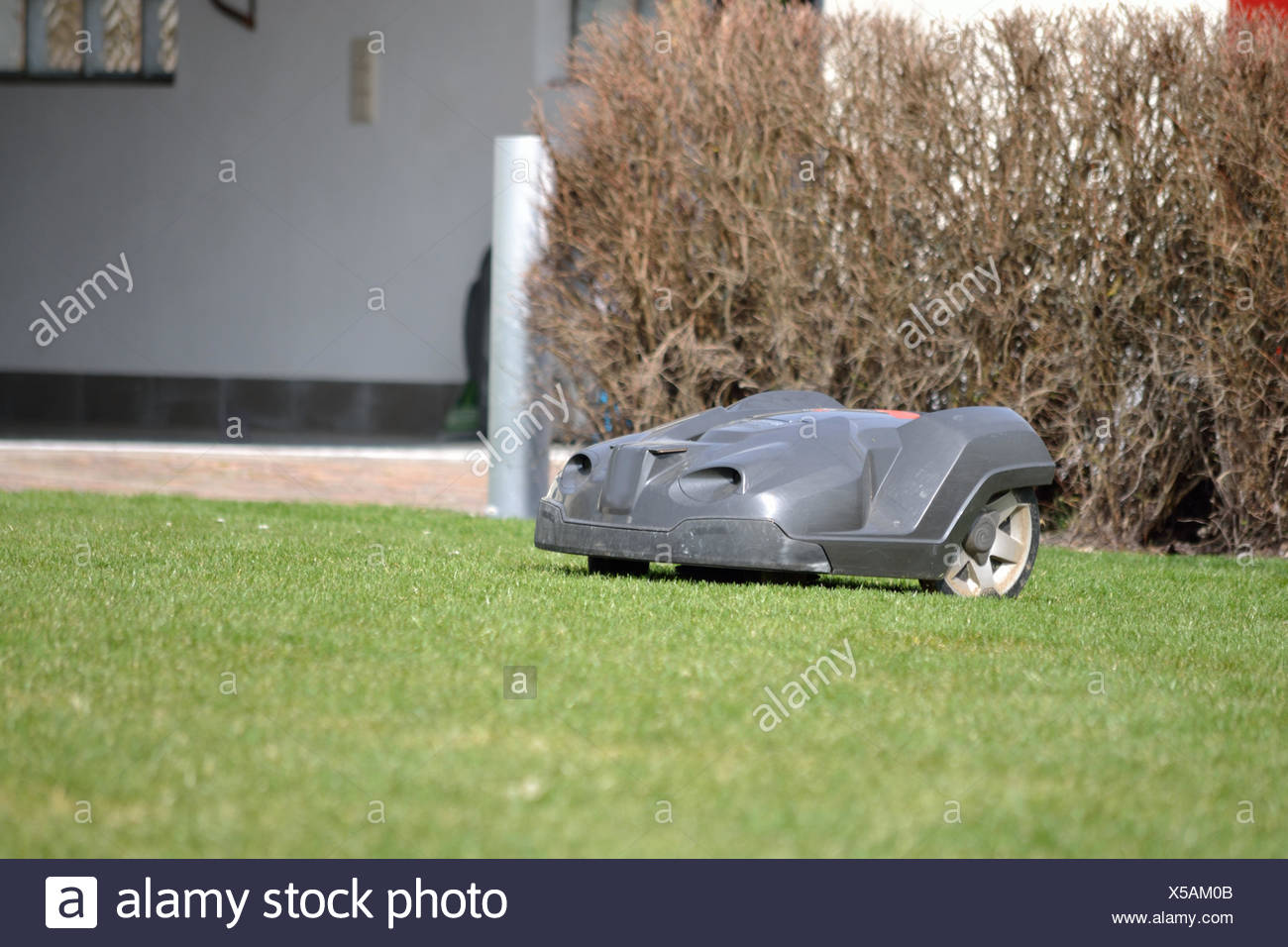 Mower is on the way Stock Photo