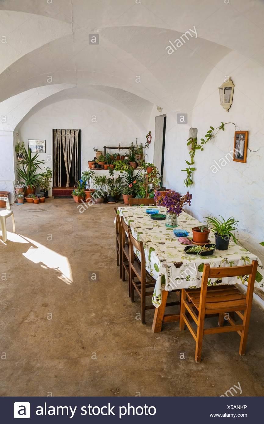 Artisan Cheese manufacturer house. Binicano Property. Ciutadella de Menorca Municipality. Menorca Island. Balearic Islands. Spain - Stock Image
