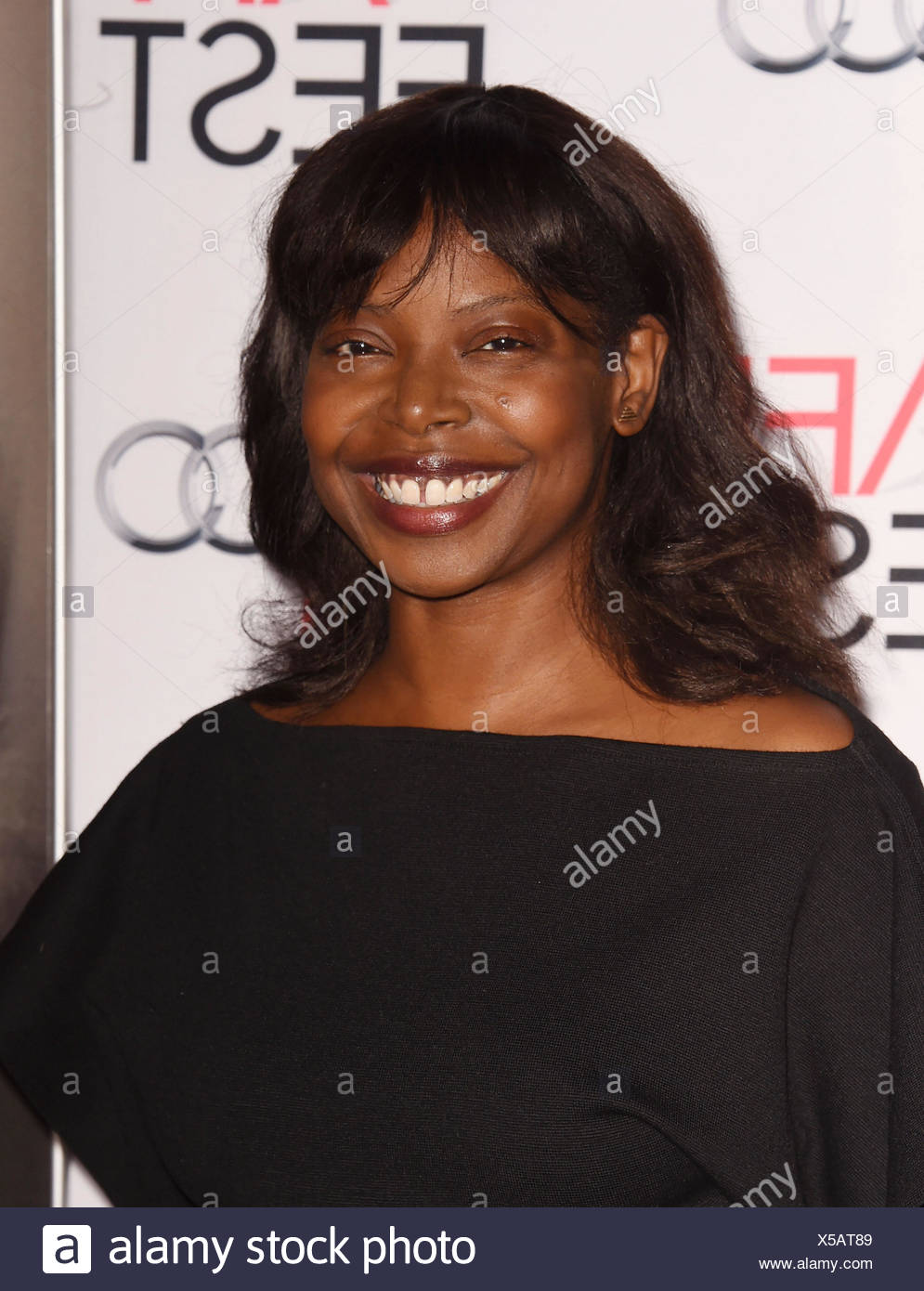 AFI FEST Director Jacqueline Lyanga arrives at the AFI FEST 2015 Presented by Audi Tribute to Charlotte Rampling and Tom Courtenay event at the TCL Chinese Theatre on November 11, 2015 in Hollywood, California., Additional-Rights-Clearances-NA - Stock Image