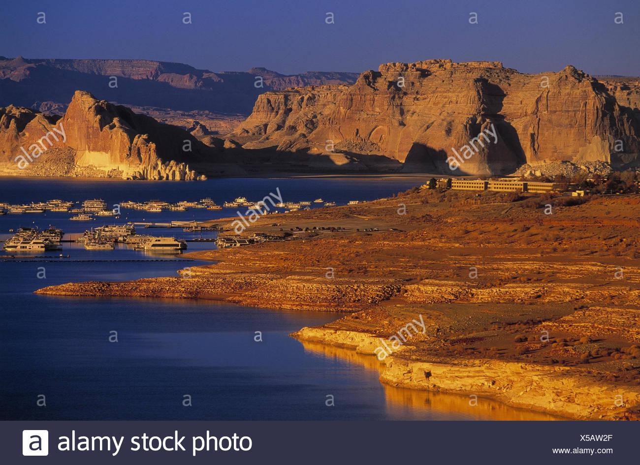 Usa Arizona Page Glen Canyon Lake Powell Wahweap Marina