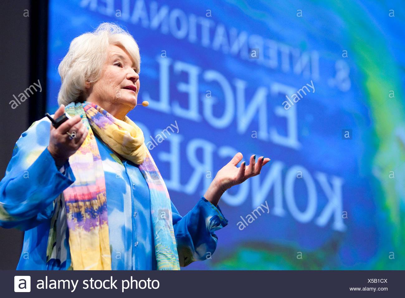 Salzburg, Austria, the author Diana Cooper at the Angel Congress - Stock Image