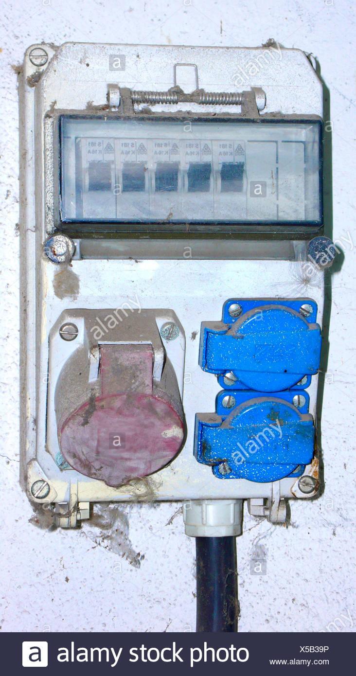 fuse box, Germany - Stock Image
