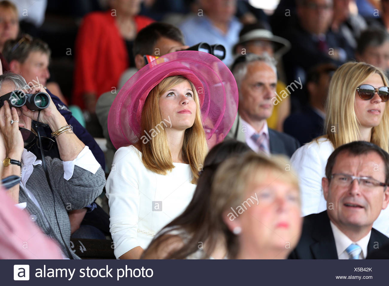 Iffezheim, Germany, people in horse racing - Stock Image
