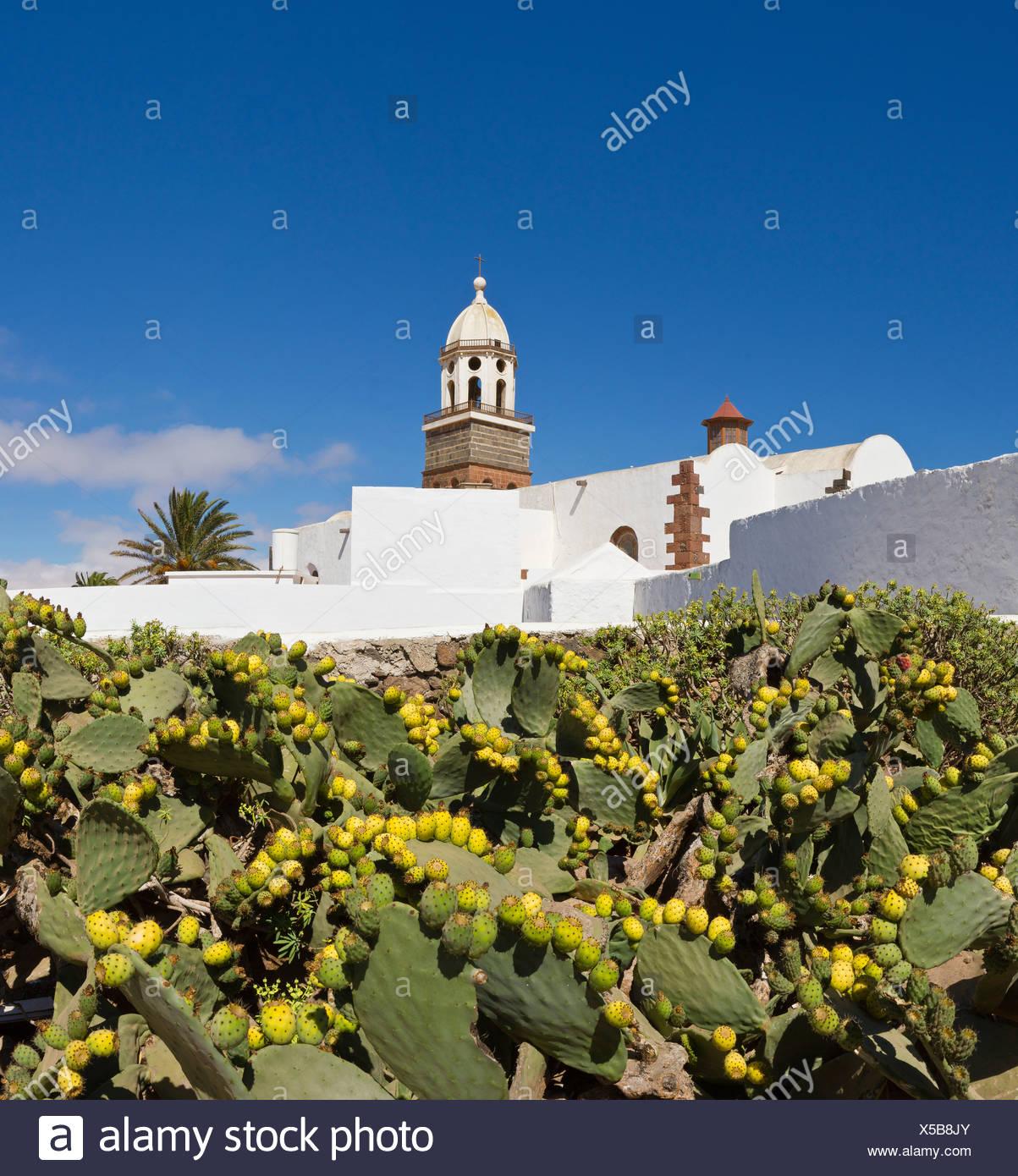 Spain, Lanzarote, Teguise, Iglesia de Guidalupe, church, monastery, summer, Canary Islands, - Stock Image