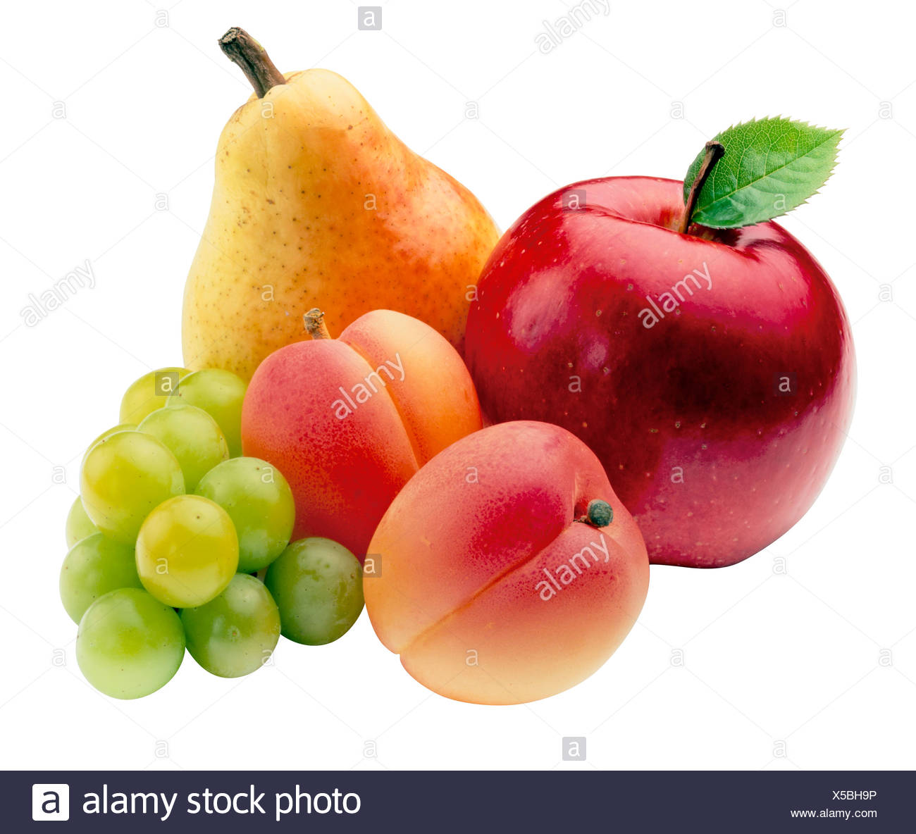 CUT OUT FRESH FRUITS - Stock Image