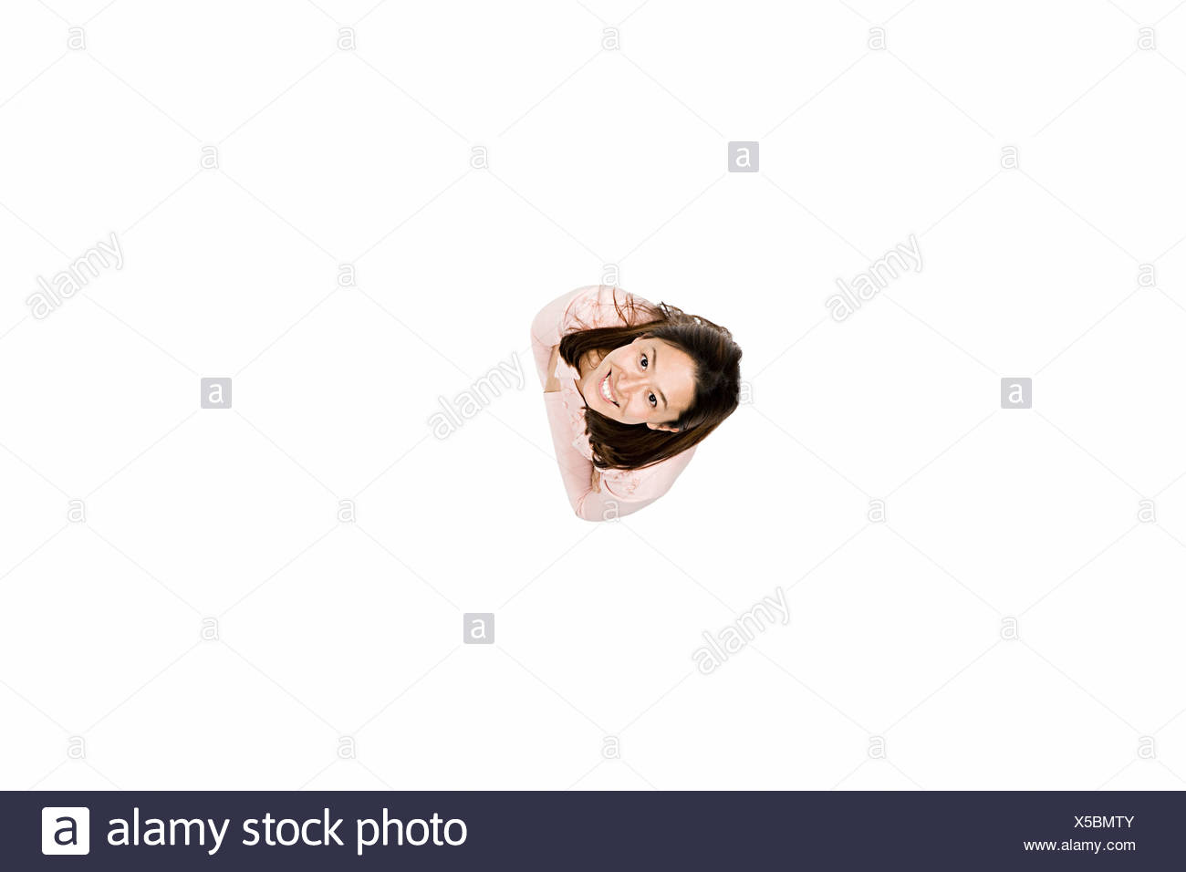 Elevated view of woman - Stock Image