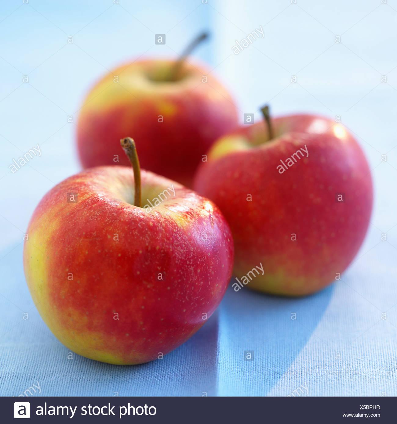Three gala apples - Stock Image