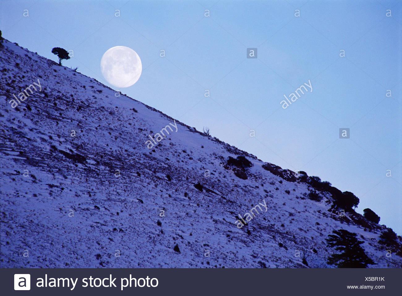 Landscape - Moon Rise - Stock Image