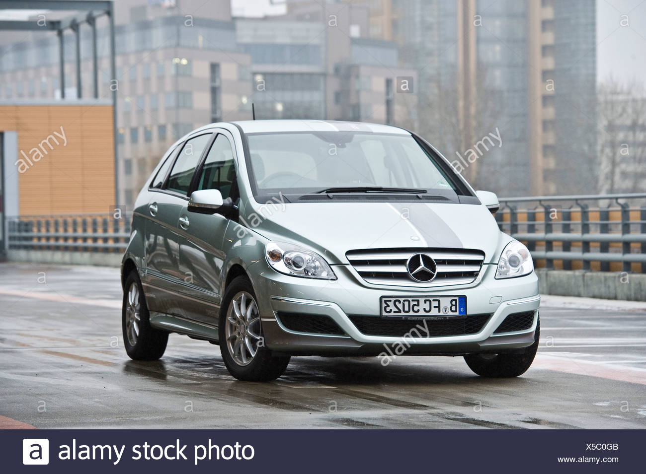 Hydrogen fuel cell vehicle, Mercedes B-class zero-emission, Berlin, Germany, Europe - Stock Image