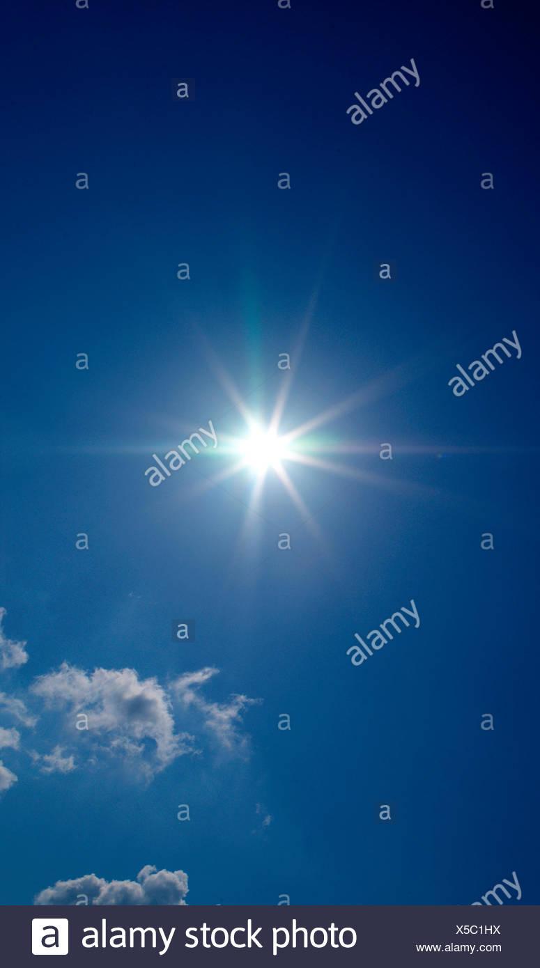sun,sunbeams, sun beams - Stock Image