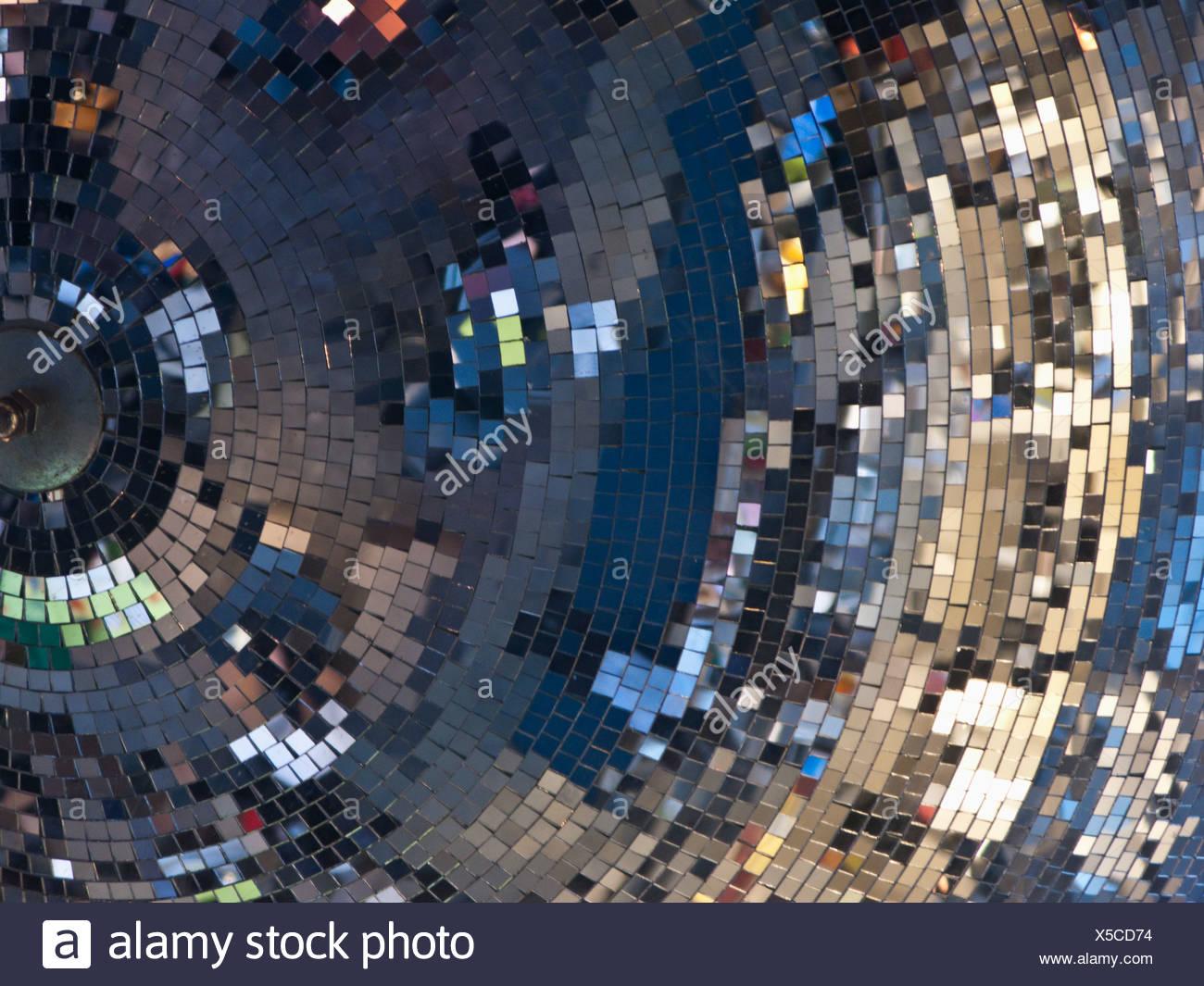 Scandinavia, Sweden, Stockholm, Shiny disco ball, close-up - Stock Image