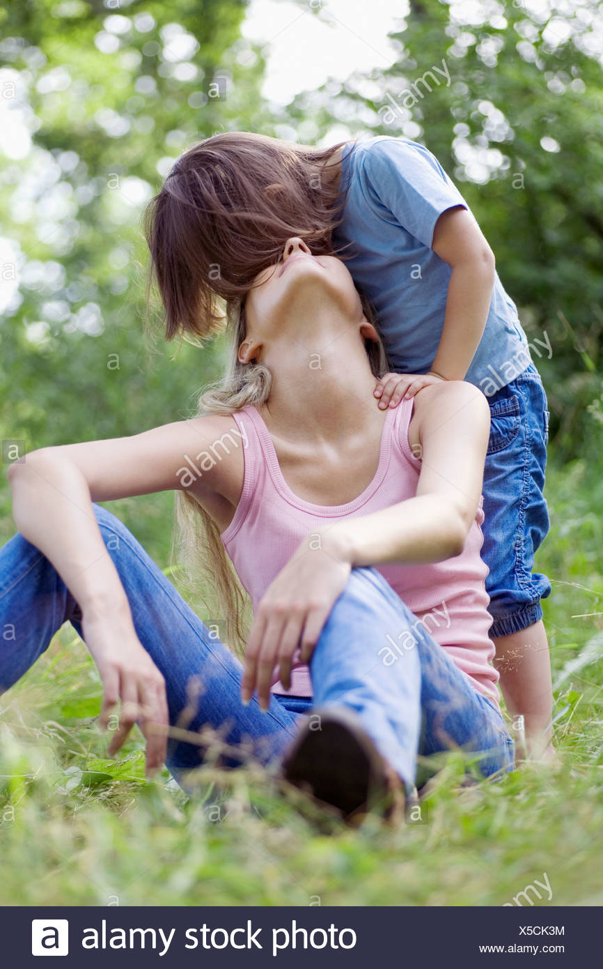 A mother and daughter - Stock Image