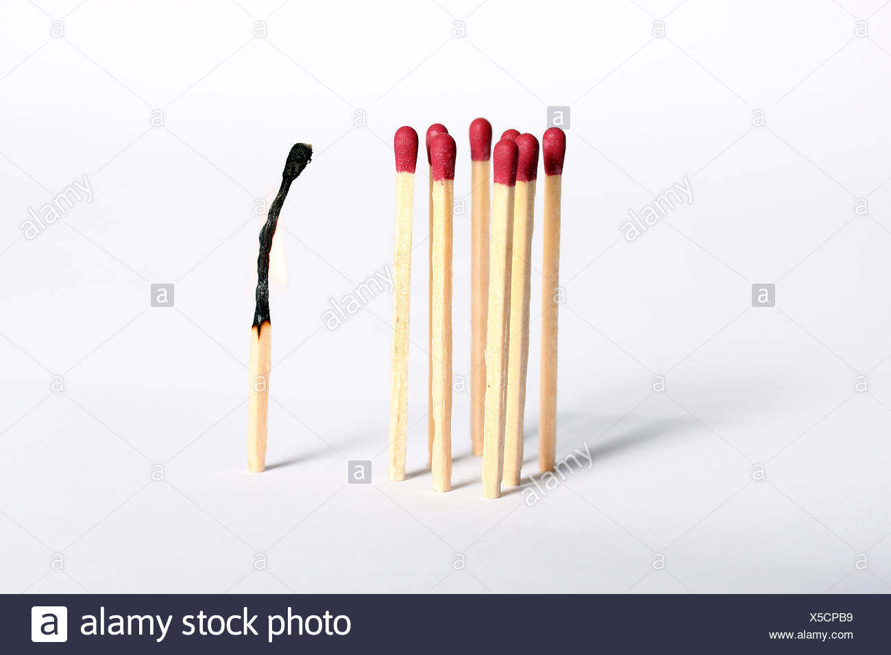 matchstick,outsider - Stock Image