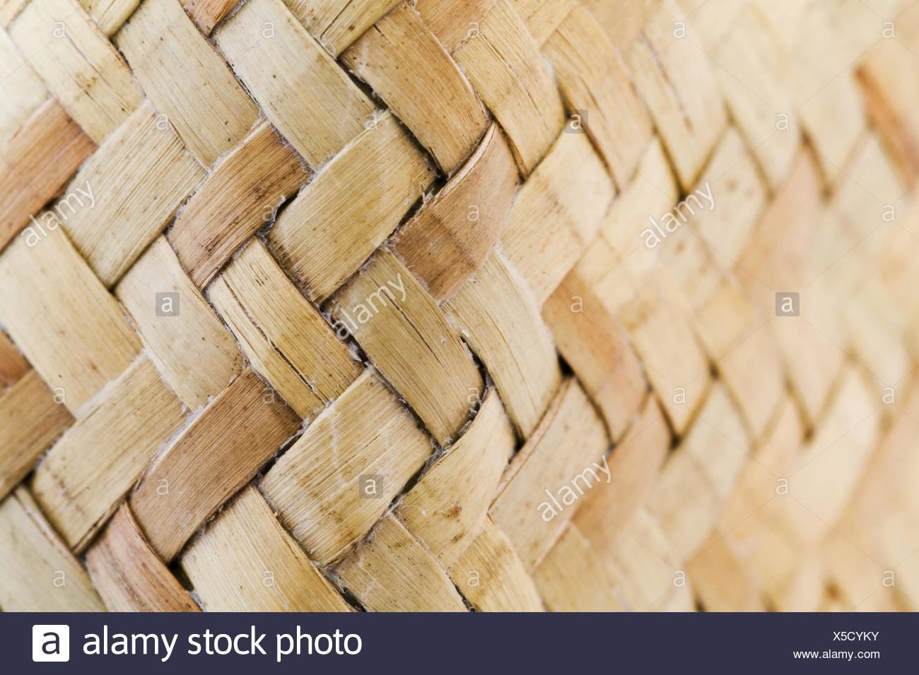 Beige woven fibres - Stock Image