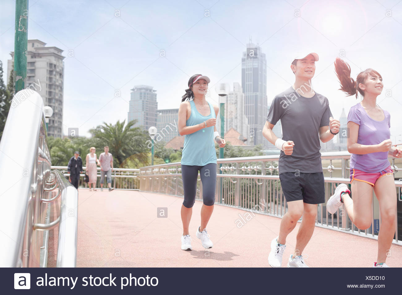 Runners in Shanghai, China - Stock Image