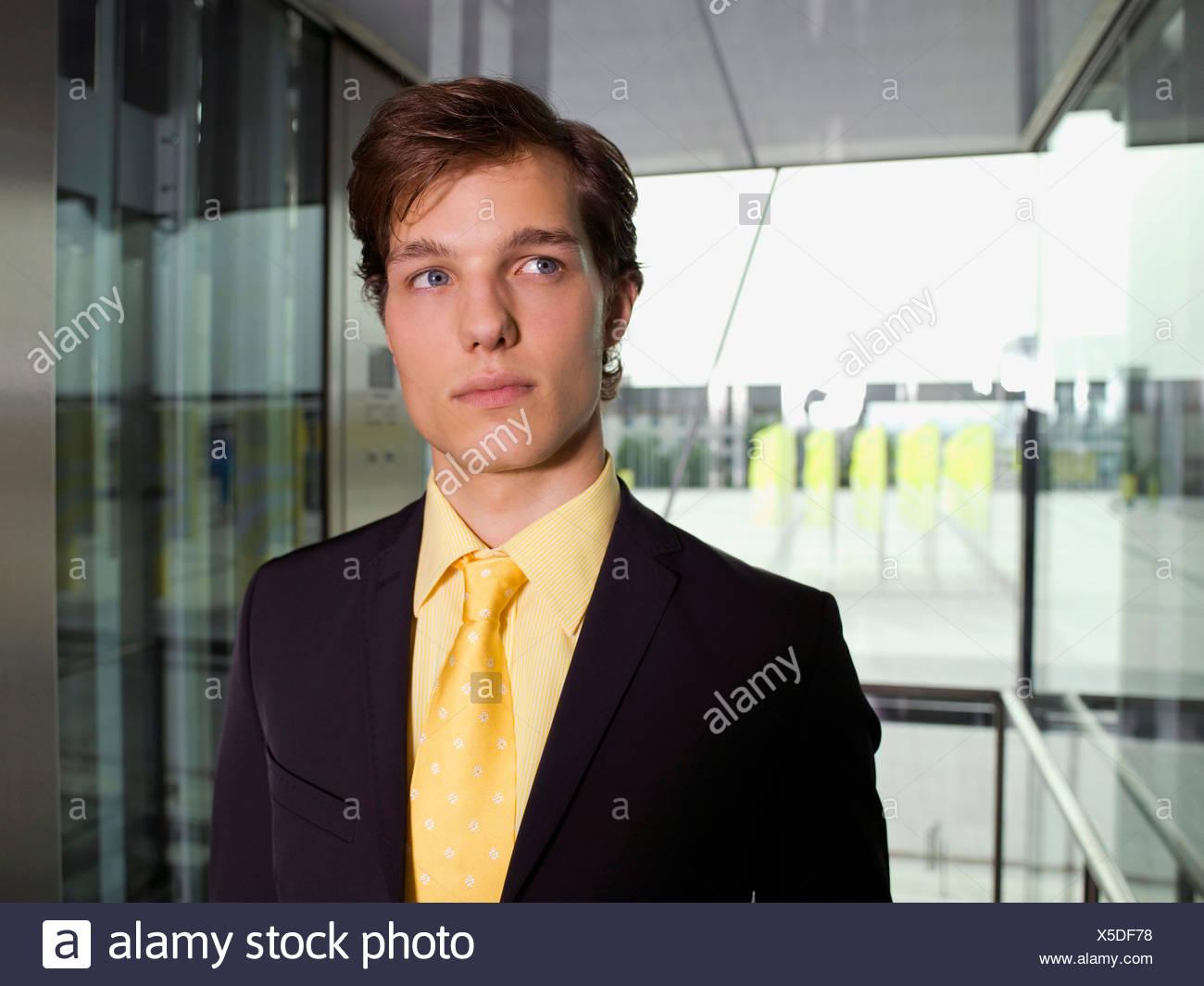 Serious businessman full suit - Stock Image