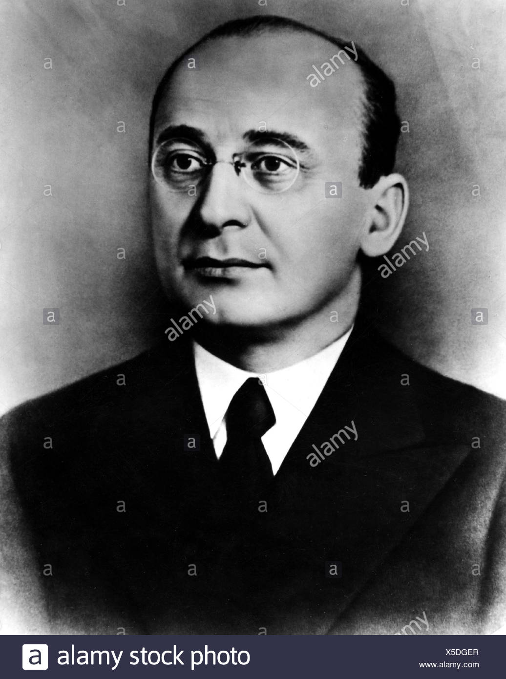 Beria, Lavrentiy, 29.3.1899 - 23.12.1953, Soviet politician, deputy head of the People's Commissariat for Internal Affairs, portrait, Additional-Rights-Clearances-NA - Stock Image