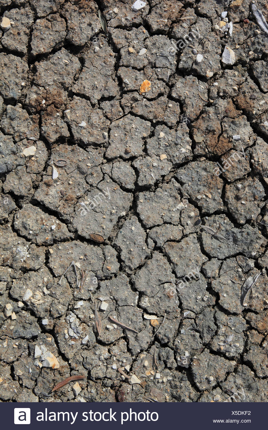 Andalusia, detail, mud, earth, heat, structure, olive groves, tears, Spain, concepts, brown, graphical, hot, dry, Stock Photo