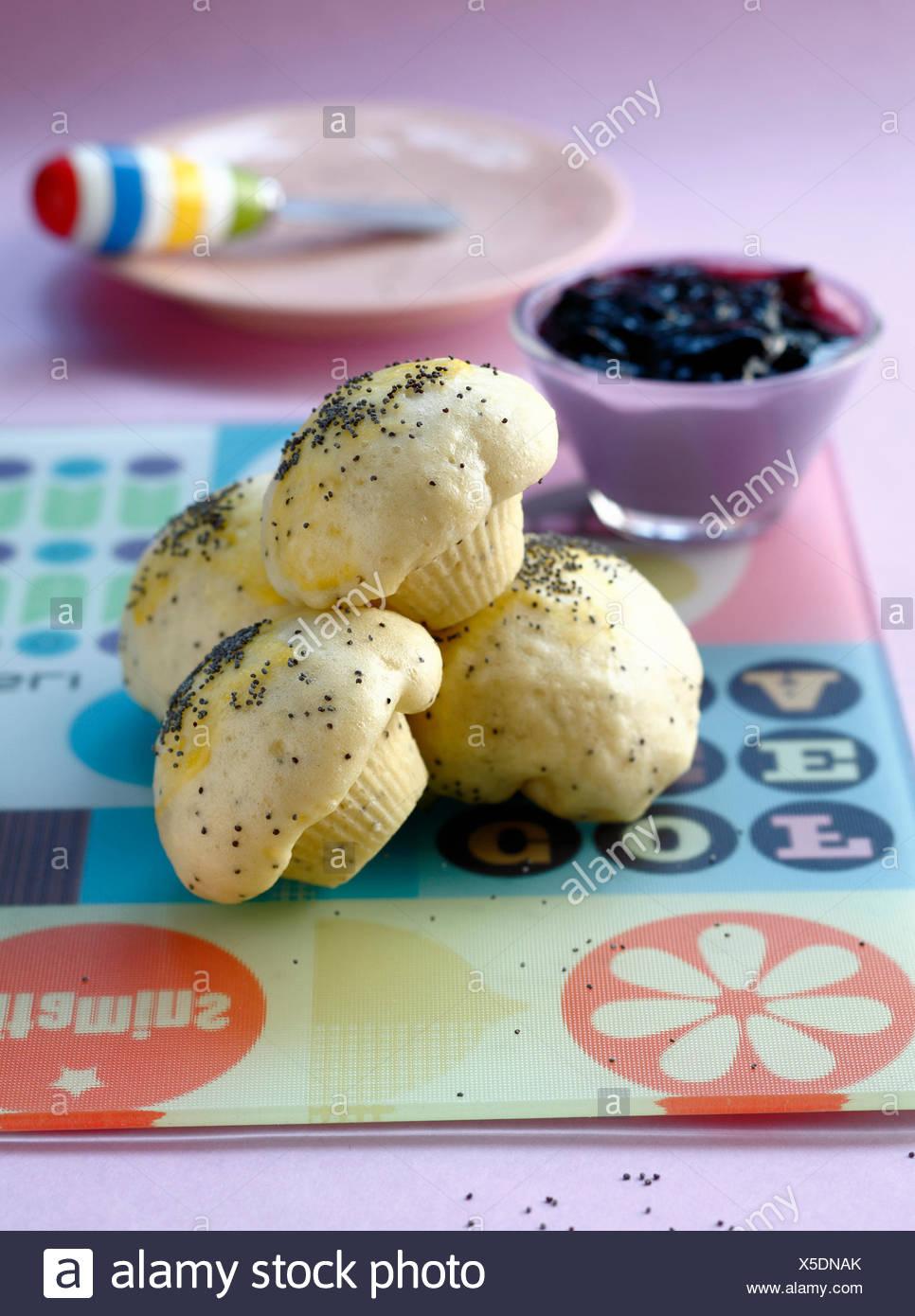 Poppyseed dumplings - Stock Image