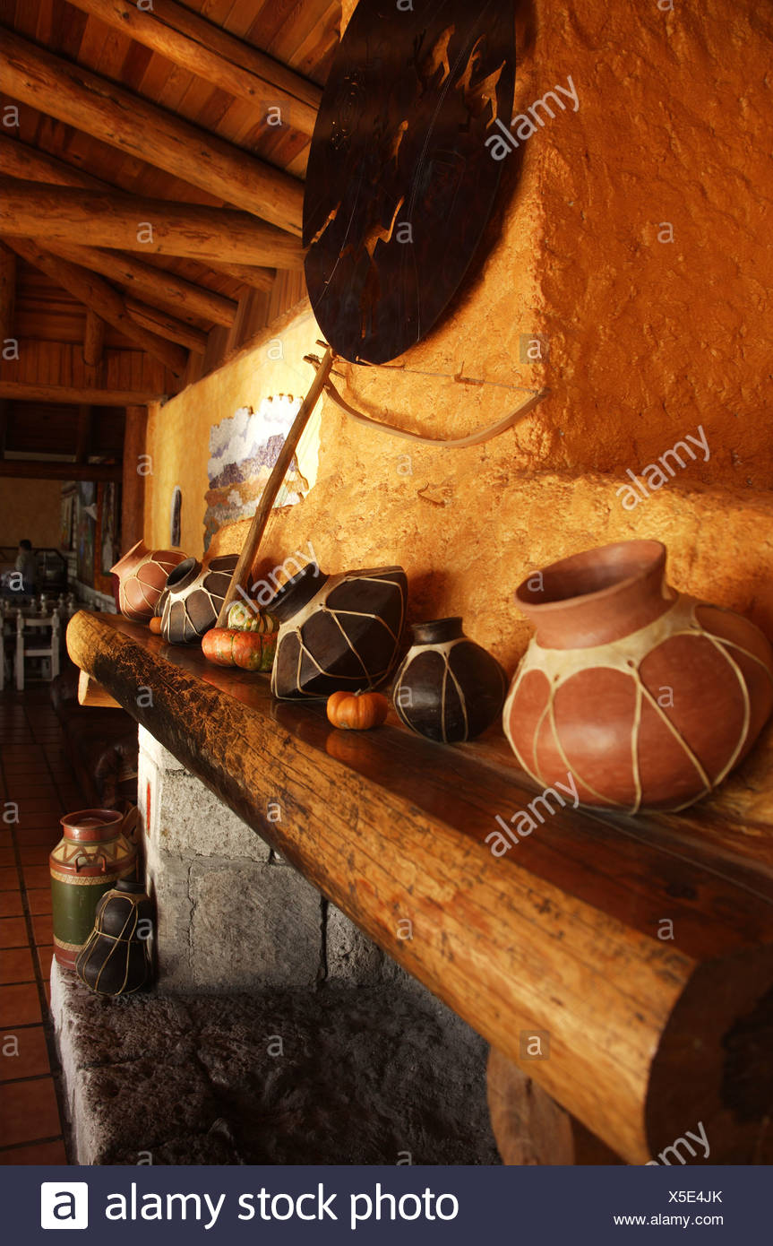Mexico Chihuahua Copper Canyon residence mantelpiece sound-vessels ...
