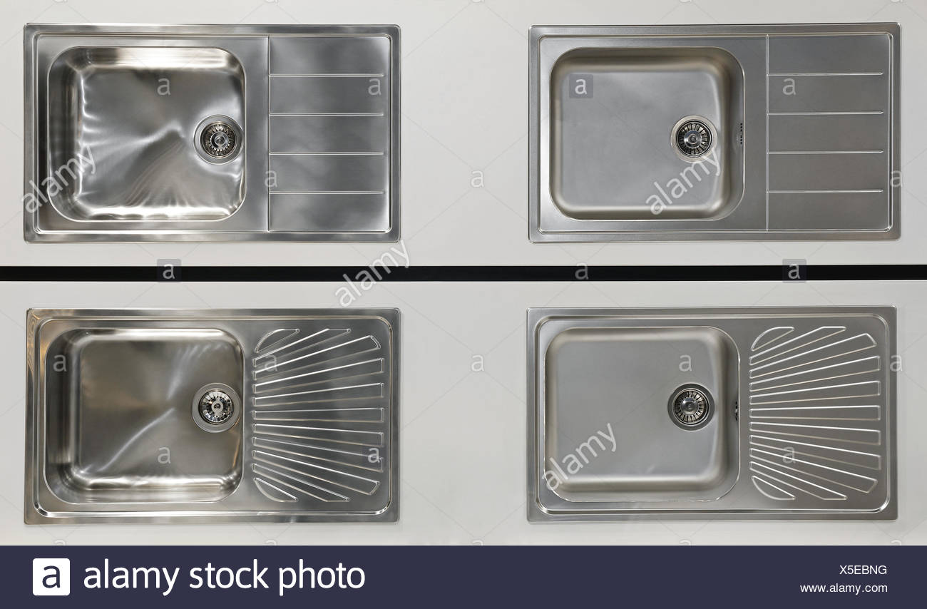 Kitchen Sinks - Stock Image