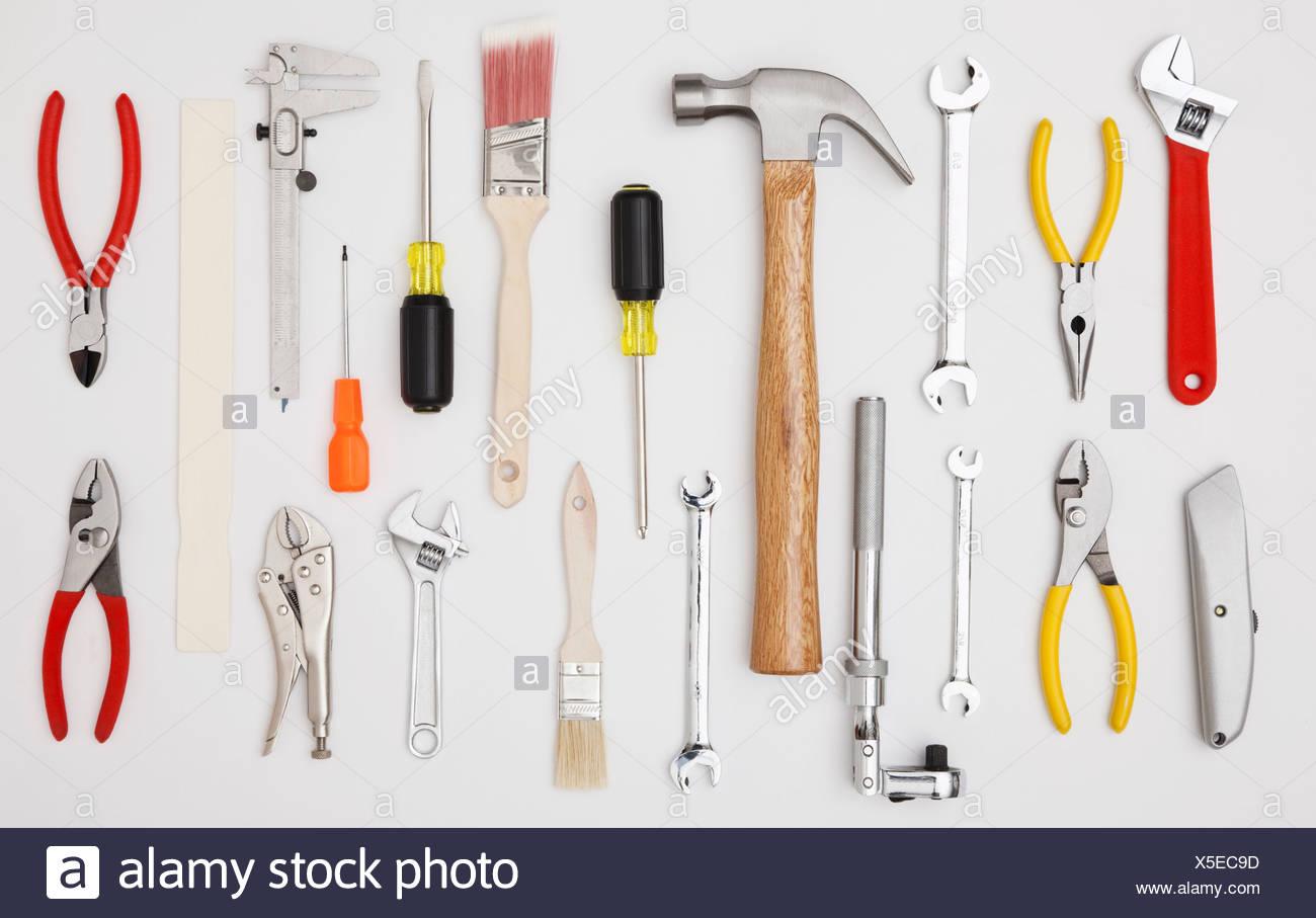 Studio shot of hand tools - Stock Image