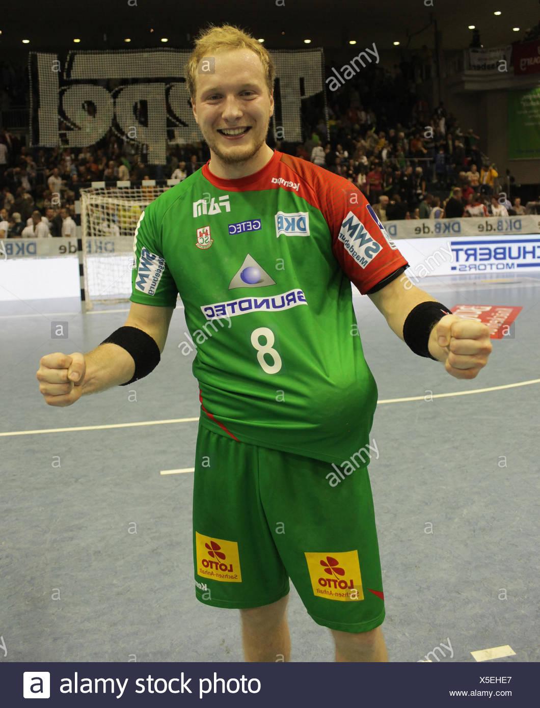 Bert Hartfiel (SC Magdeburg Saison 2013/14) - Stock Image