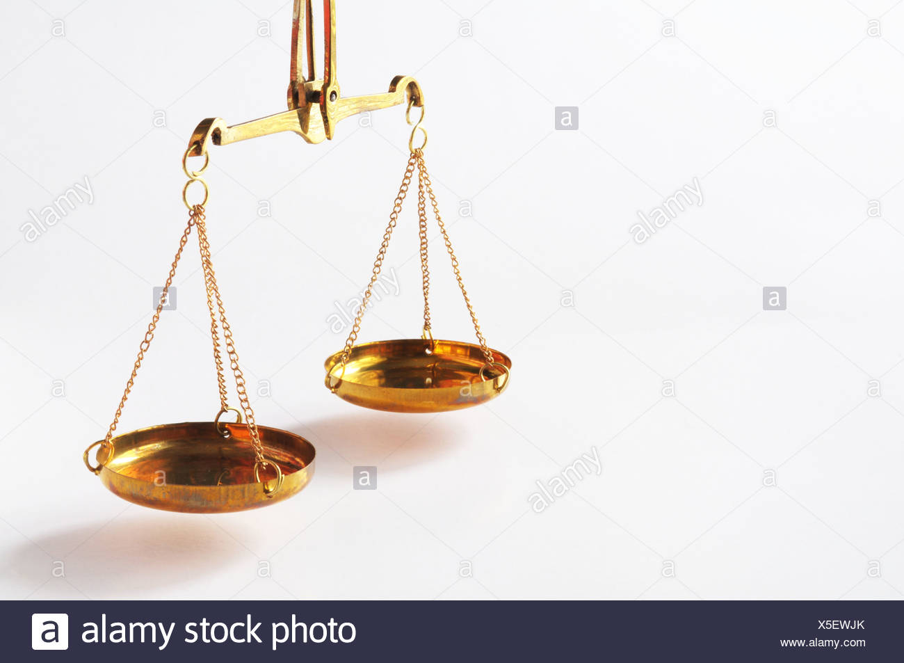scale or scales with copyspace showing law justice or legal concept - Stock Image