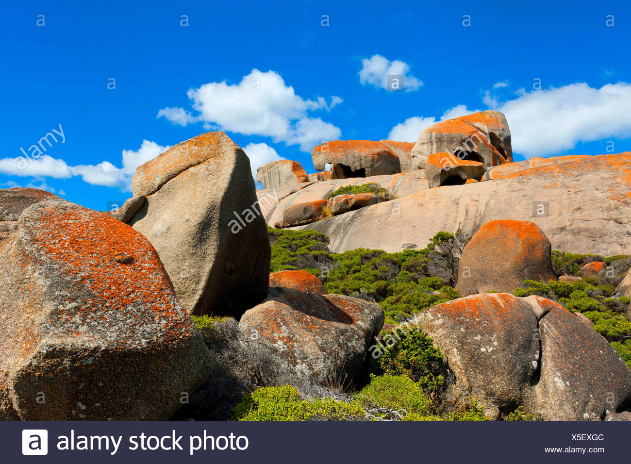 Remarkable rock, Australia, south Australia, Kangaroo Island, Flinders Chase, national park, rock, cliff, lichens - Stock Image