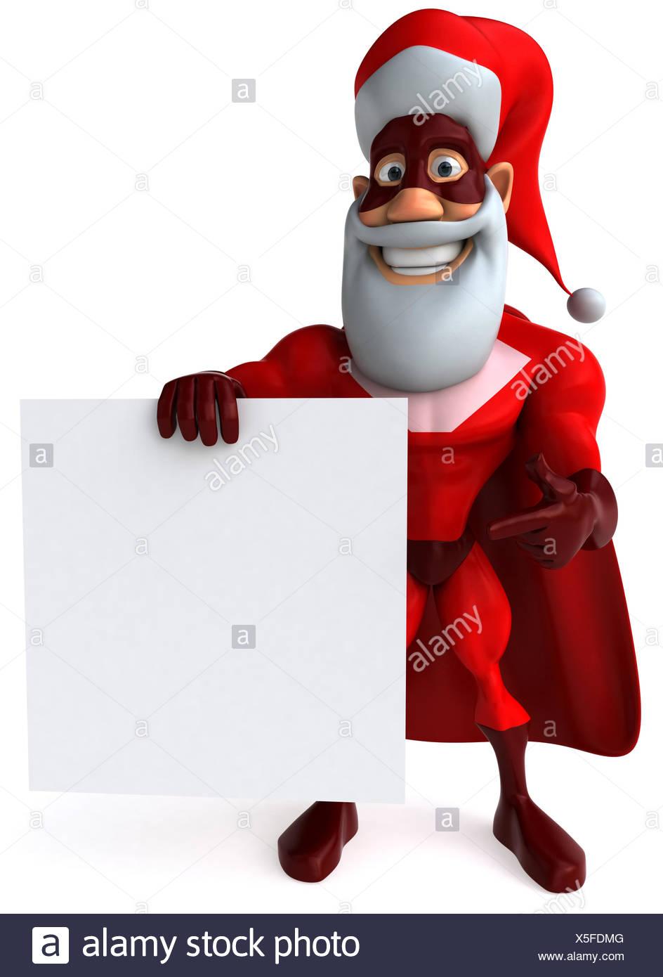 strong christmas hero - Stock Image