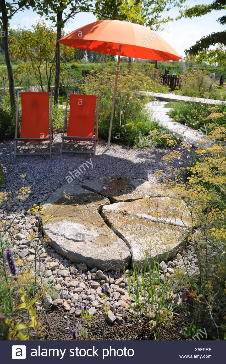 Astounding Sitzplatz Garten Dekoration Von Garden-place In The Shadow - Stock Image