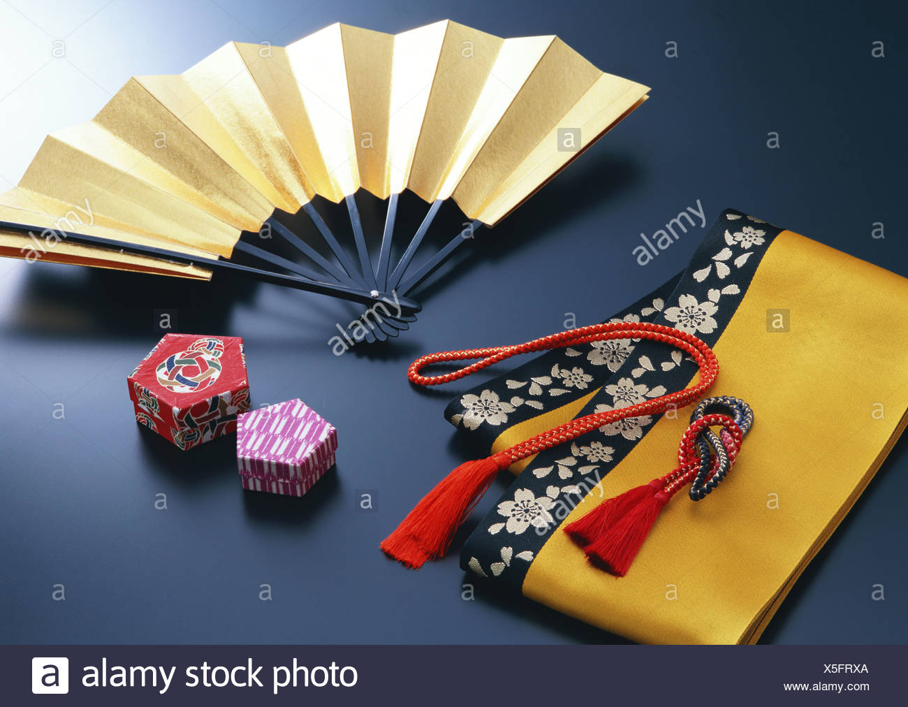 Half-breadth Obi and Japanese Accessory - Stock Image