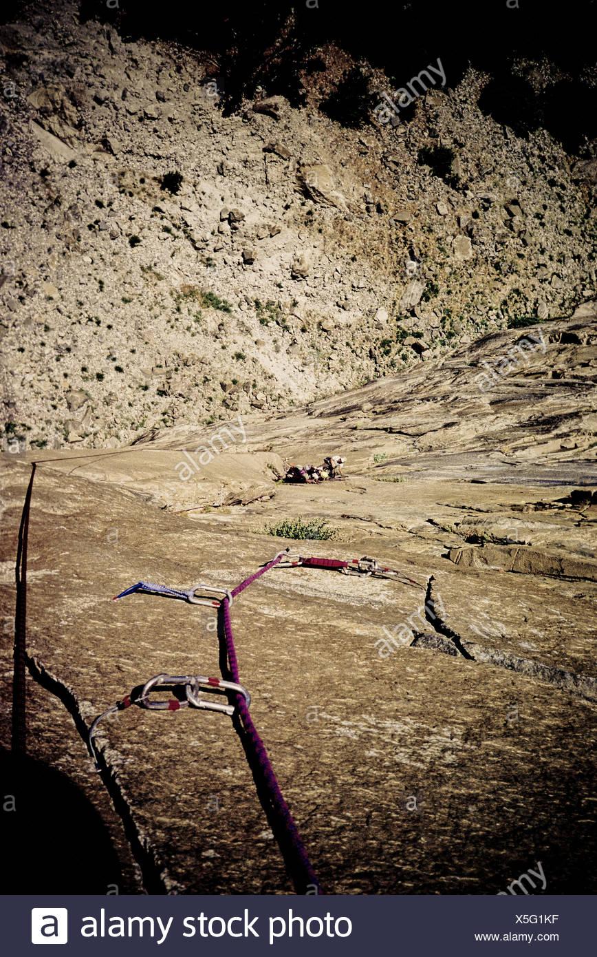 Rock climbers, Yosemite, California. - Stock Image