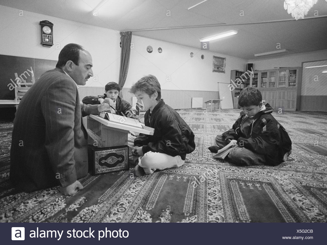 Coranschool in Rinkeby 1991 - Stock Image