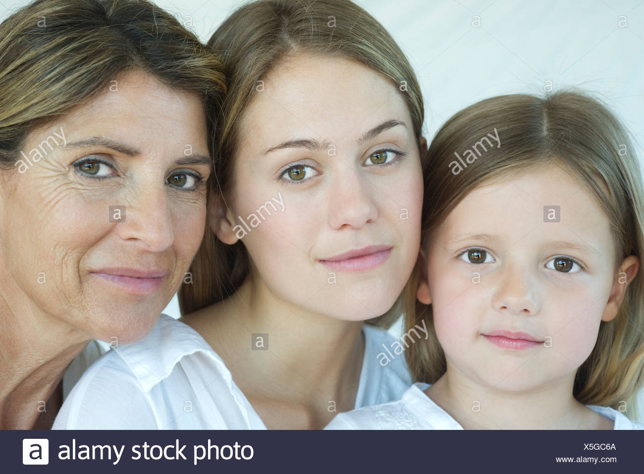 Mother, daughter and grandmother, portrait - Stock Image