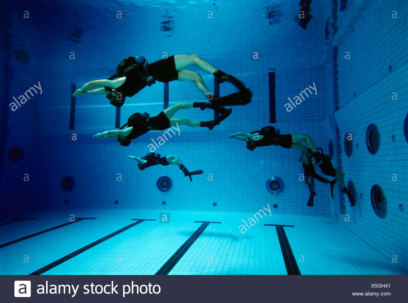 Soldiers of the German special forces 'Kampfschwimmerkompanie' exercise with oxygen rebreather units, Eckernfoerde, soldiers, S - Stock Image