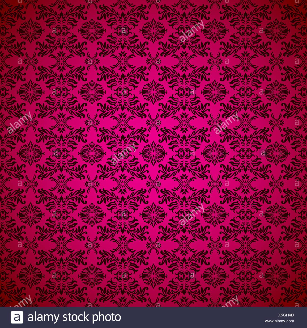 magenta wallpaper pattern - Stock Image