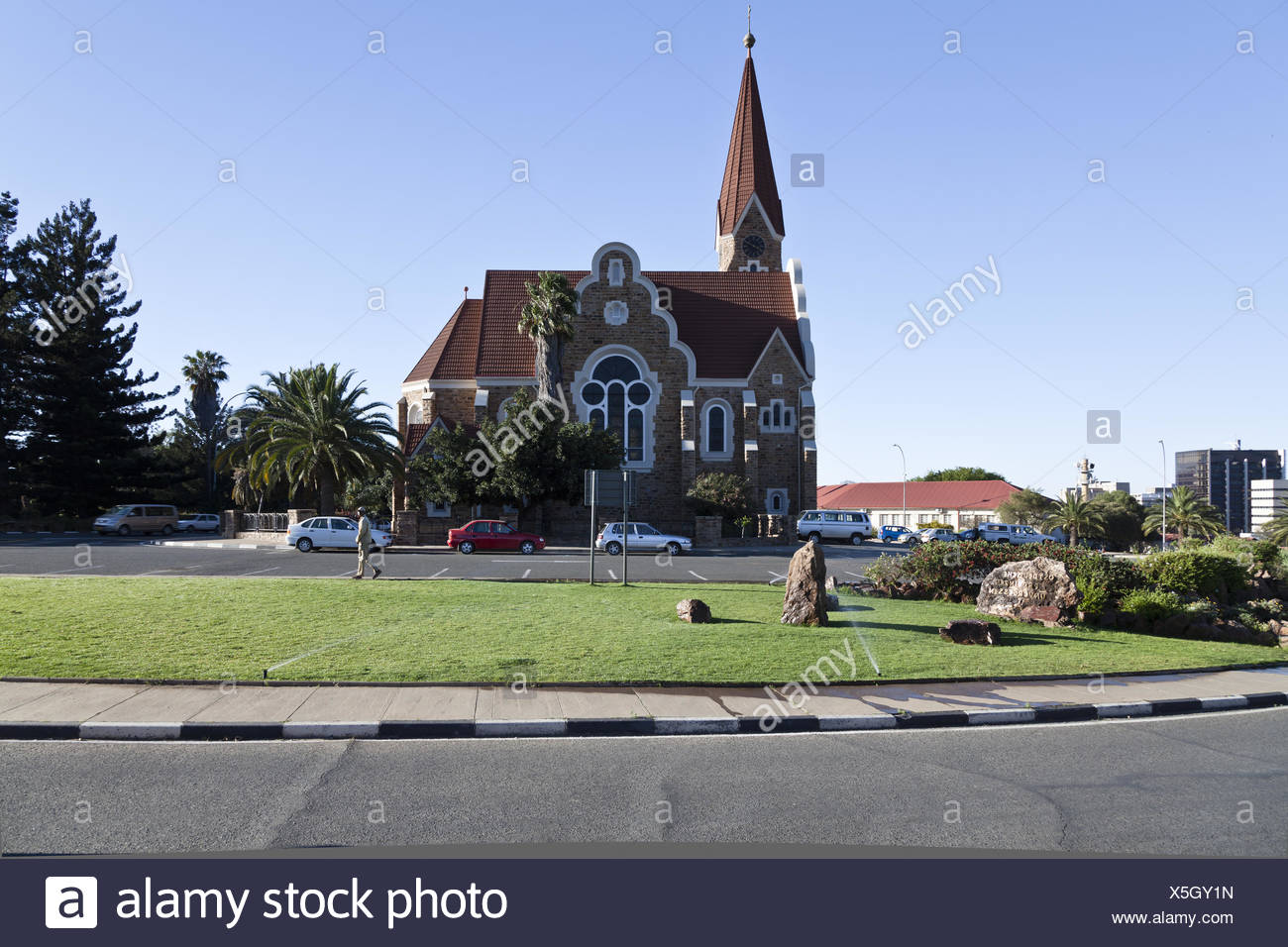 The christus church in Windhoek - Stock Image