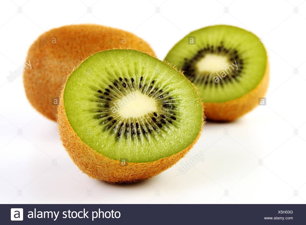 isolated optional fruit half halved food aliment health vitamins vitamines Stock Photo