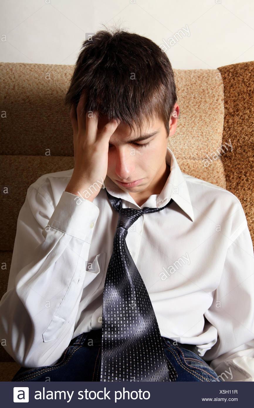 Sorrowful Teenager - Stock Image