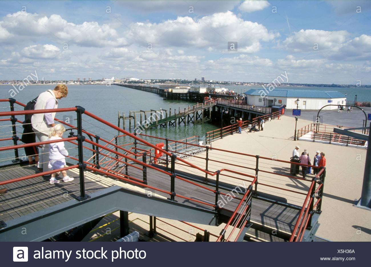 Pier Southend on Sea Essex UK Stock Photo