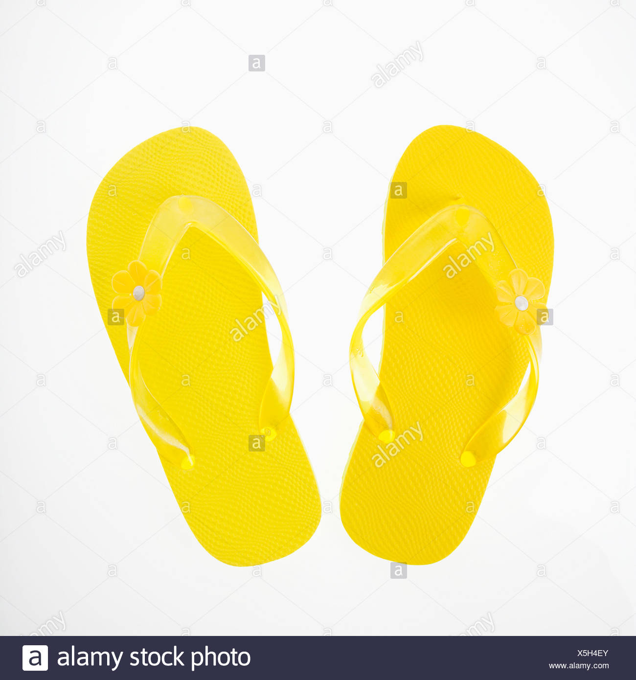 d5e5a15ef Yellow plastic thong sandals Stock Photo  278815907 - Alamy