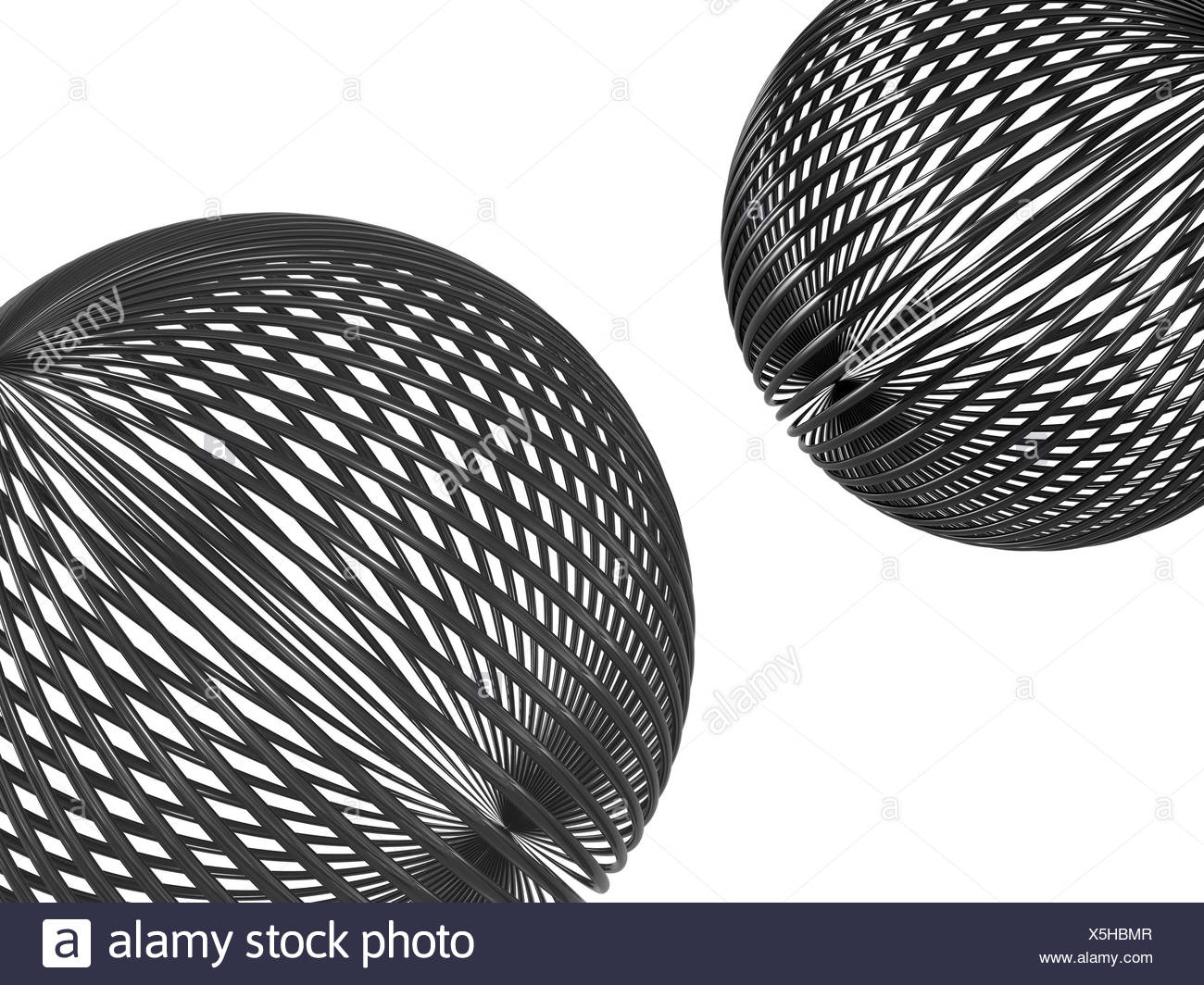 wire tubes metallic sphere isolated reflection mirroring metal ...