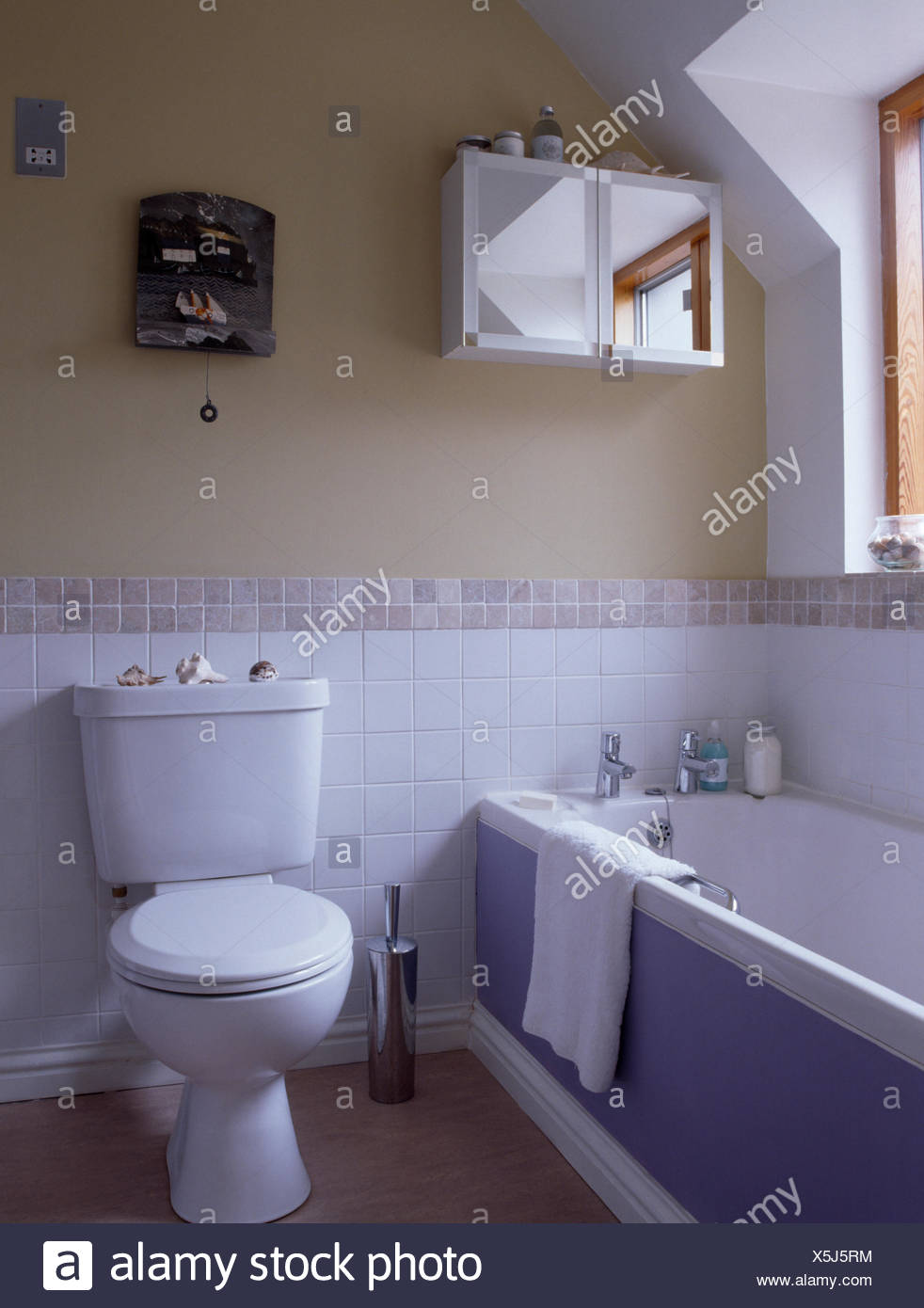 Interiors Bathroom Bath Tiling Stock Photos & Interiors Bathroom ...