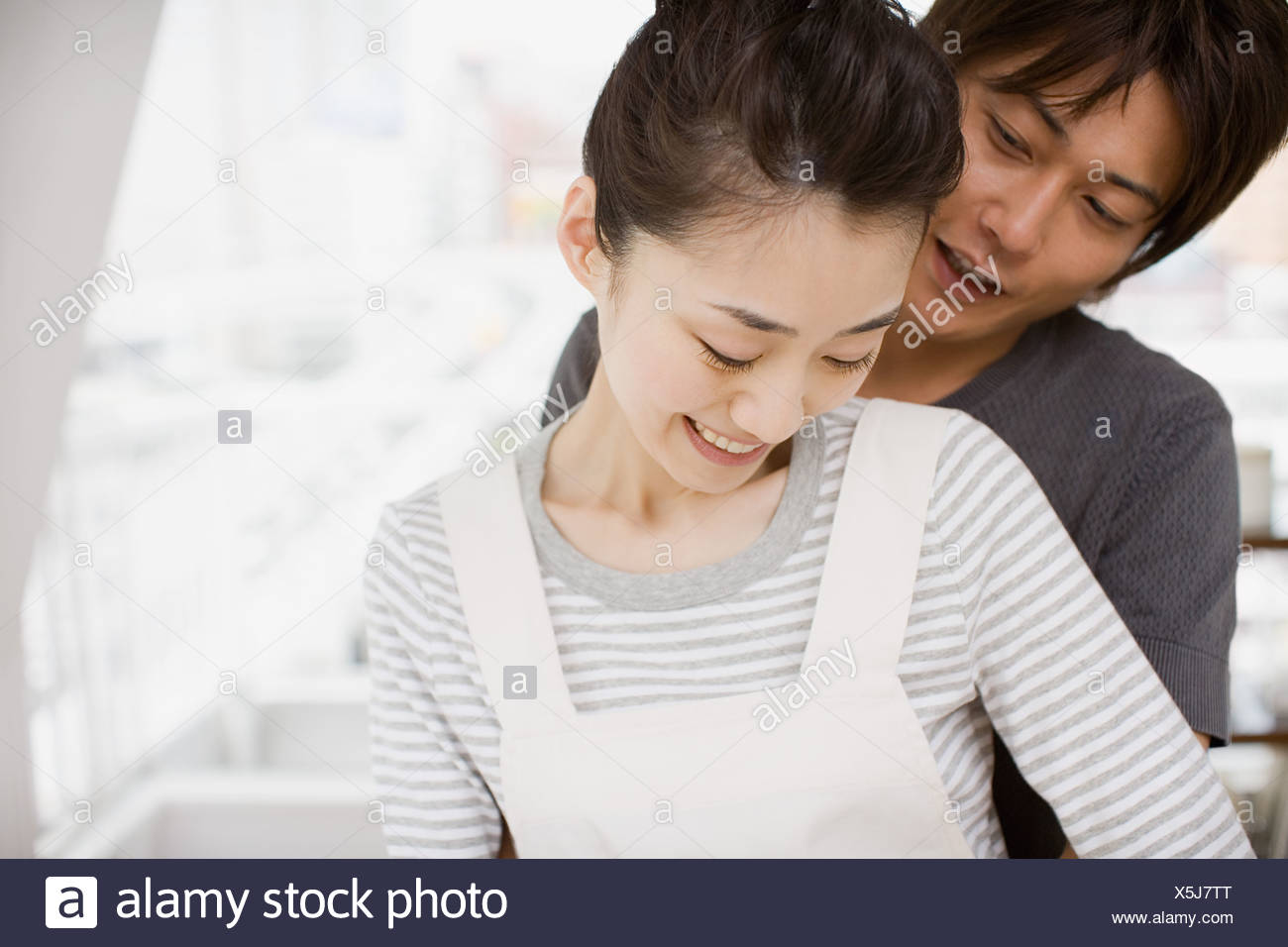 Young japanese couple - Stock Image