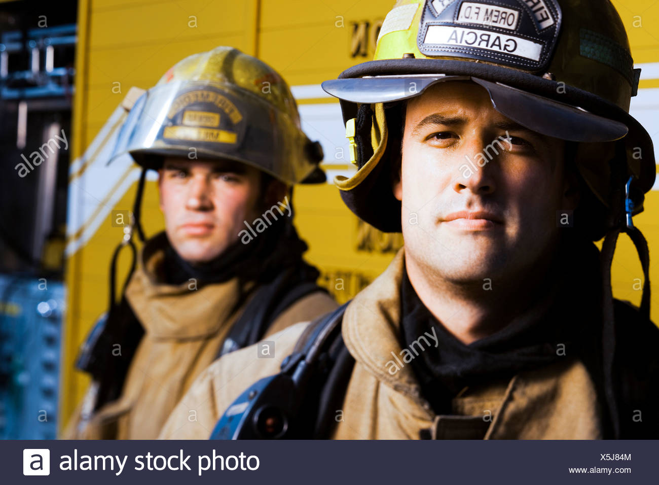 Portrait of firefighters - Stock Image