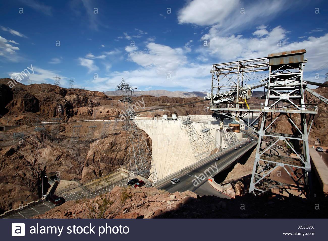 Lake Mead reservoir, Hoover Dam, Nevada, Arizona, USA Stock Photo