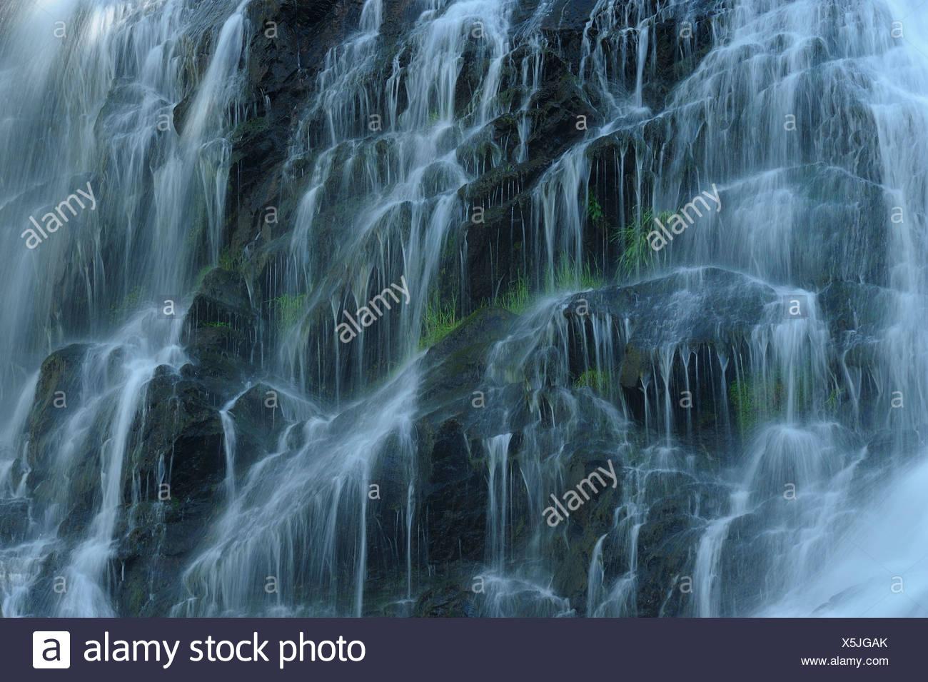 waterfall Schlei, Schleier Wasserfall in the Black Forest, Germany, Baden-Wuerttemberg, Black Forest Stock Photo