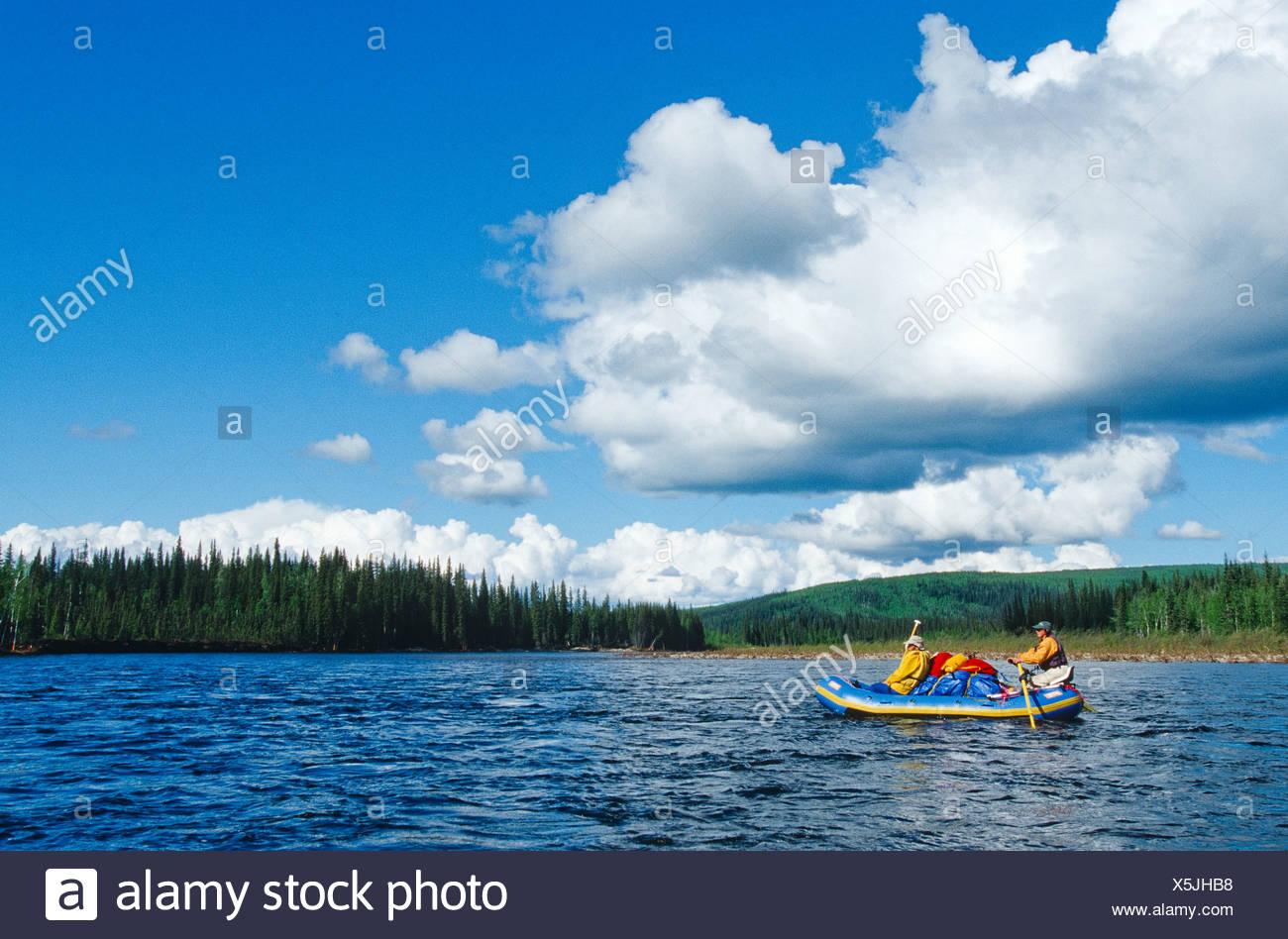 Alaska. Yukon-Charley Rivers NP. Rafting - Stock Image
